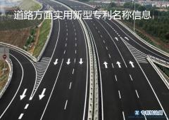 道路方面实用新型专利名称信息